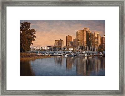 Sunset From Stanley Park - Vancouver Framed Print by Maria Angelica Maira
