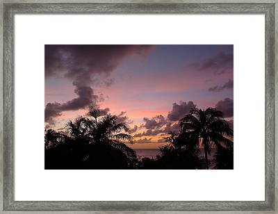 Sunset From Terrace 3 St. Lucia Framed Print by Nora Boghossian