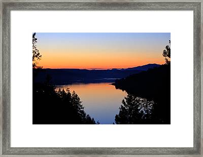 Sunset From The Deck Framed Print