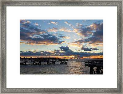 Sunset From The Fishing Piers Framed Print