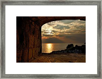 Sunset From The Fort Framed Print by Stuart Litoff