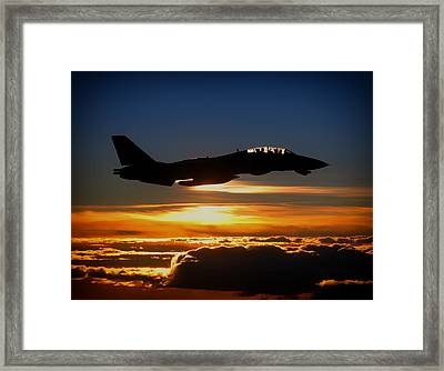 Sunset From Up High Framed Print by Mountain Dreams