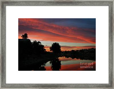 Sunset Gilbert Arizona 2004 Framed Print