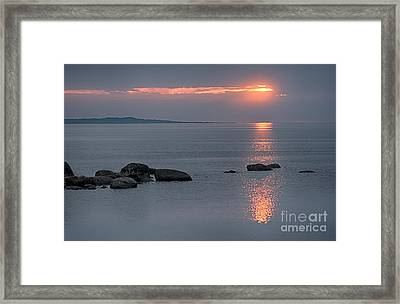 Sunset Glow At Awenda Beach Framed Print