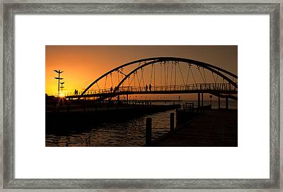 Framed Print featuring the photograph Sunset Glow by Kim Andelkovic