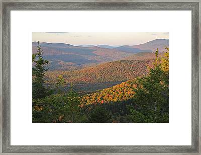 Sunset Glow Over The Autumn Landscape Framed Print