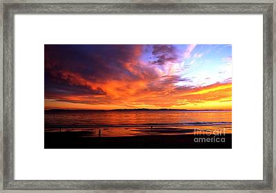 Framed Print featuring the photograph Sunset Glow by Sue Halstenberg