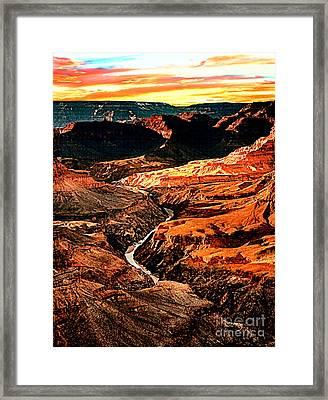 Sunset Grand Canyon West Rim Framed Print