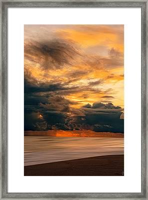 Sunset Grandeur Framed Print by Lourry Legarde