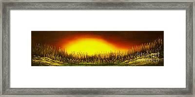Sunset Groove-original Sold-buy Giclee Print Nr 27 Of Limited Edition Of 40 Prints  Framed Print by Eddie Michael Beck