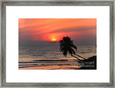Sunset   Gulf Of Mexico   Naples  Florida Framed Print
