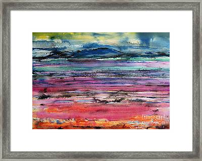 Sunset Framed Print by Gwen Nichols