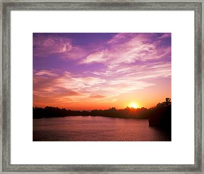 Sunset Halibut Point Framed Print