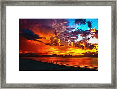 Sunset Happiness Framed Print