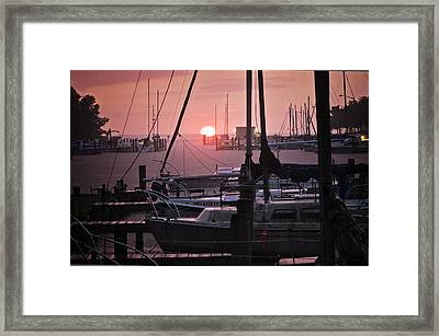 Sunset Harbor Framed Print