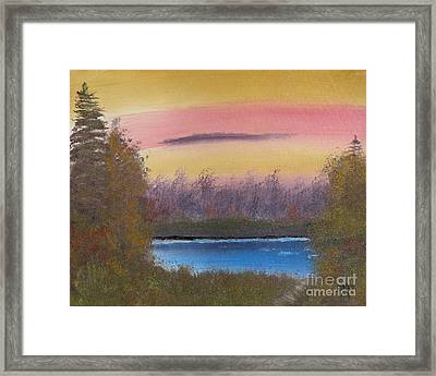 Sunset Haze Framed Print by Dave Atkins