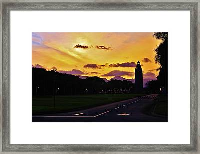 Sunset Hickam Air Force Base Freedom Tower Framed Print