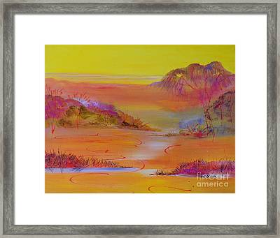 Framed Print featuring the painting Sunset Hills by Lyn Olsen