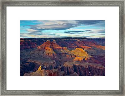 Sunset, Hopi Point, South Rim, Grand Framed Print