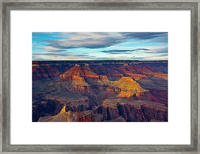 Sunset, Hopi Point, South Rim, Grand Framed Print by Michel Hersen