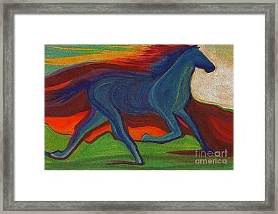 Sunset Horse By Jrr Framed Print