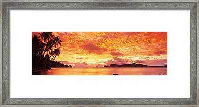 Sunset, Huahine Island, Tahiti Framed Print by Panoramic Images