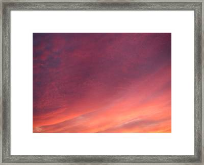 Framed Print featuring the photograph Sunset Hues by Laurie Stewart