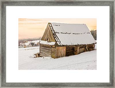 Sunset Hut Framed Print