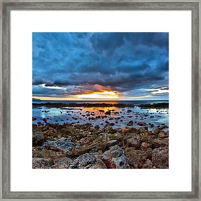 #sunset #ignation #igtube #instalike Framed Print by Brian Governale