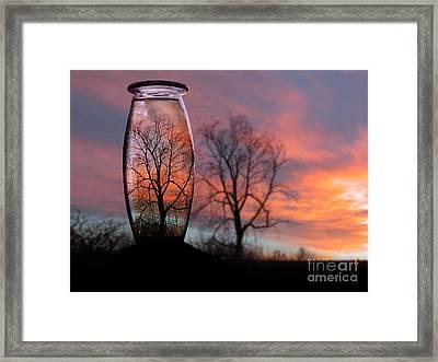 Sunset In A Bottle Framed Print