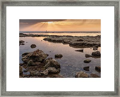 Sunset In Acre Framed Print by Sergey Simanovsky