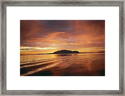 Sunset In Alesund Framed Print by Christine Rivers