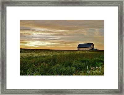 Sunset In Aroostook County Framed Print by Christopher Mace