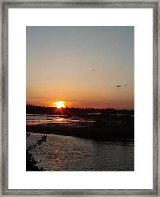 Sunset In Bayonne Framed Print by Anastasia Konn