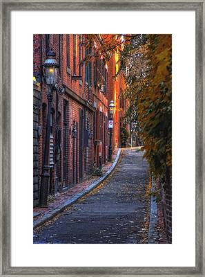 Sunset In Beacon Hill Framed Print by Joann Vitali