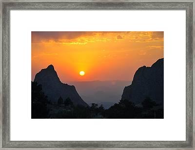 Sunset In Big Bend National Park Framed Print