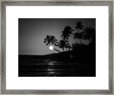 Sunset In Black And White Framed Print