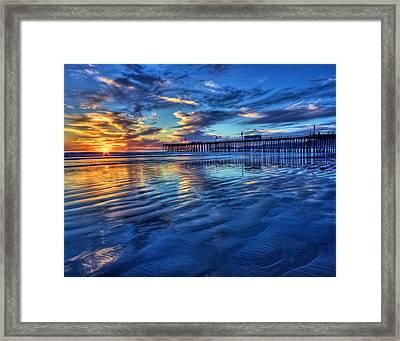Sunset In Blue Framed Print