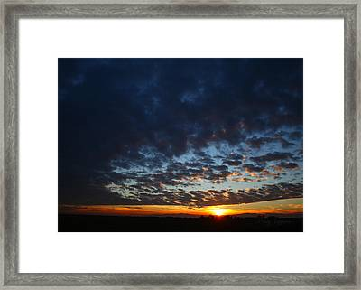 Sunset In Blue Framed Print