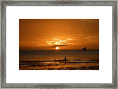 Sunset In Boracay Framed Print