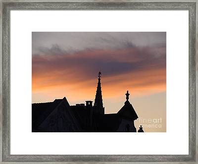 Sunset In Brussels Framed Print