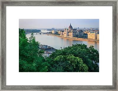 Sunset In Budapest Framed Print by Teemu Tretjakov