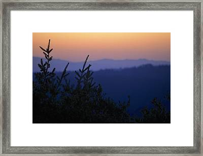 Sunset In California Framed Print by Alex King