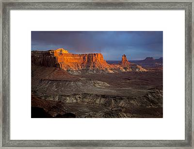 Sunset In Canyonlands Framed Print