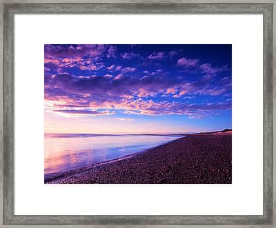 Sunset In Cape Cod Boston Massachusetts  Framed Print