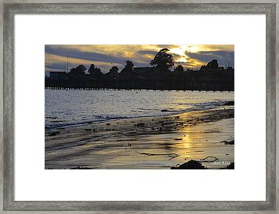 Sunset In Capitola Framed Print by Alex King