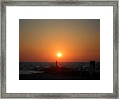 Sunset In Captiva Framed Print