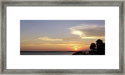 Sunset In Charleston Framed Print