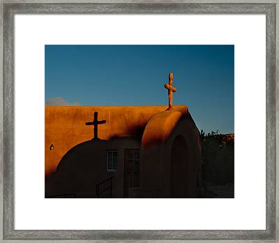 Sunset In Chimayo Nm Framed Print