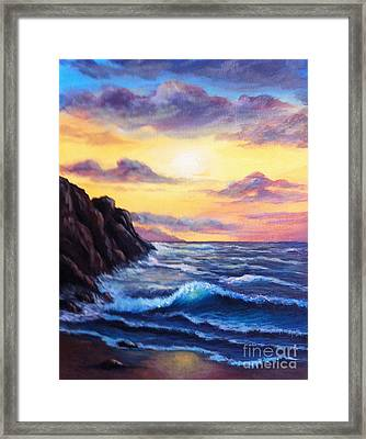 Sunset In Colors Framed Print